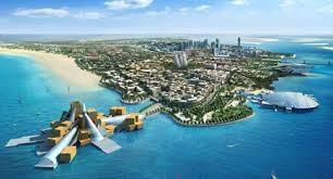 vista dall'alto di Abu Dhabi