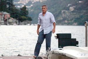 Clooney sul lago di Como