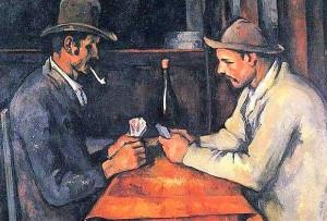 giocatori di carte, di Paul Cézanne