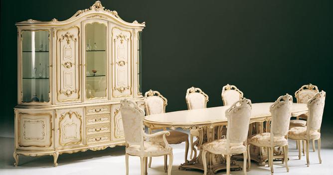 soggiorno stile Luigi XV