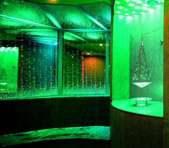 sauna in cristalli